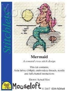 Mouseloft Mermaid Stitchlets cross stitch kit
